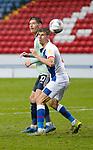 03.10.20 - Blackburn Rovers v Cardiff City - Sky Bet Championship - Kieffer Moore of Cardiff and Daniel Ayala of Blackburn Rovers