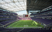 Minneapolis, MN - October 23, 2016: The USWNT defeated Switzerland 5-1 during their international friendly at U.S. Bank Stadium.