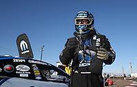 Feb. 24, 2013; Chandler, AZ, USA; NHRA runner-up funny car driver Matt Hagan during the Arizona Nationals at Firebird International Raceway. Mandatory Credit: Mark J. Rebilas-