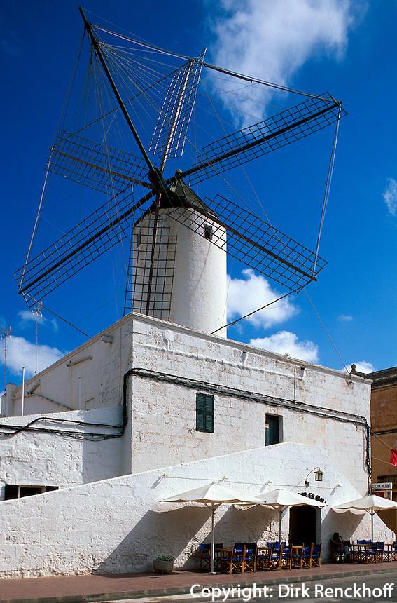 Spanien, Menorca, Windmühle Moli d'es Conde in Ciutadella