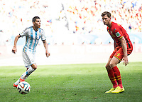 Brasilia, Brazil - Saturday, July 5, 2014: Argentina defeated Belgium 1-0 during a quarter final match at Estádio Nacional de Brasilia.