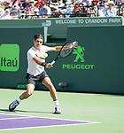 March 24 2018: Roger Federer (SUI) loses to Thanasi Kokkinakis (AUS) 6-3, 3-6, 6-7 (4), at the Miami Open being played at Crandon Park Tennis Center in Miami, Key Biscayne, Florida. ©Karla Kinne/Tennisclix/CSM