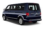 Car pictures of rear three quarter view of 2020 Volkswagen Caravelle Highline 5 Door Passenger Van Angular Rear