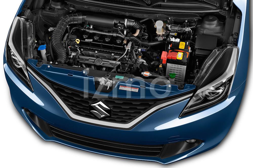 Car Stock 2016 Suzuki Baleno Skycruise 2 Door Convertible Engine  high angle detail view