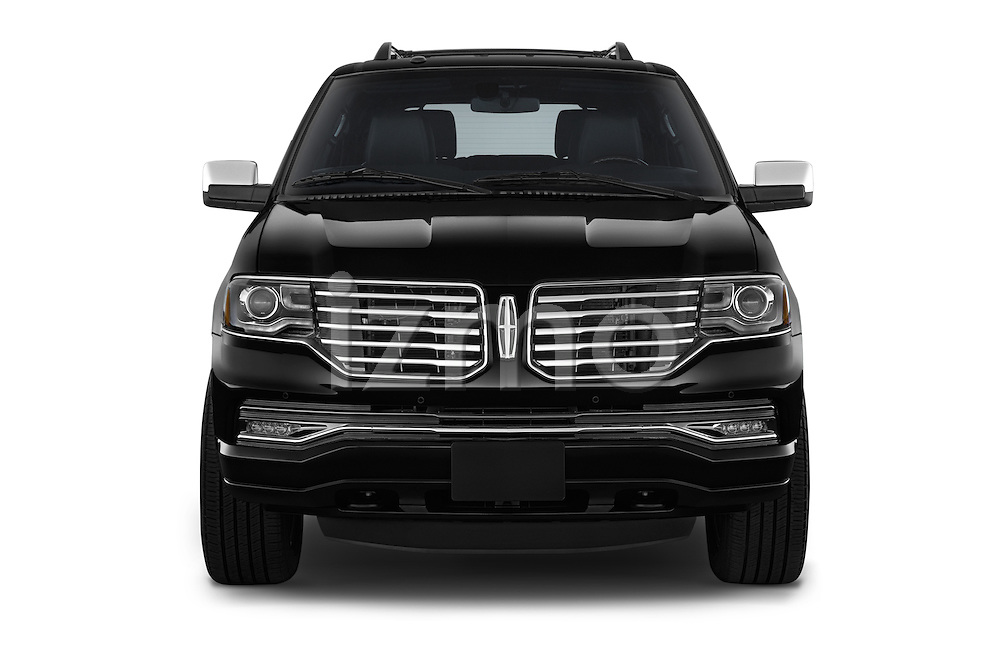 Car photography straight front view of a 2015 Lincoln Navigator 2Wd AT 5 Door Suv 2WD Front View