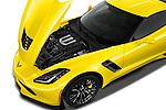 Car Stock 2018 Chevrolet Corvette Z06-Coupe-1LZ 3 Door Targa Engine  high angle detail view