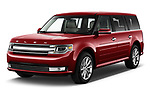 2019 Ford Flex Limited 5 Door SUV angular front stock photos of front three quarter view