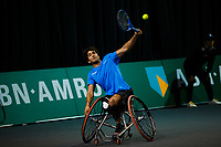 Rotterdam, The Netherlands, 11 Februari 2020, ABNAMRO World Tennis Tournament, Ahoy, <br /> Wheelchair tennis: Daniel Caverzashci (ES).i<br /> Photo: www.tennisimages.com
