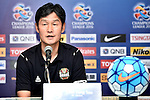 Coaches and players of Buriram United (THA) and FC Seoul (KOR) speak at the press conference on 22 February 2016, one day before their 2016 AFC Champions League Group F match at the New I-Mobile Stadium, Buriram, Thailand.