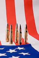 Bullets on American flag<br />