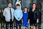 Oliver Kwiatkowski former student of CBS NS receiving his Confirmation in St Johns Church, Tralee on Sunday. L to r: Sebastian, Maja, Oliver and Magdelina Kwiatkowski.