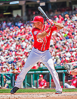 24 May 2015: Washington Nationals first baseman Clint Robinson at bat against the Philadelphia Phillies at Nationals Park in Washington, DC. The Nationals defeated the Phillies 4-1 to take the rubber game of their 3-game weekend series. Mandatory Credit: Ed Wolfstein Photo *** RAW (NEF) Image File Available ***
