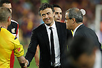 Barcelona´s coach Luis Enrique celebrates after winning the 2014-15 Copa del Rey final match between Barcelona and Athletic de Bilbao at Camp Nou stadium in Barcelona, Spain. May 30, 2015. (ALTERPHOTOS/Victor Blanco)