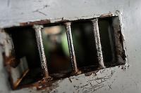 Prison bars inside the juvenile prison in Tonacatepeque, El Salvador, 18 May 2011.
