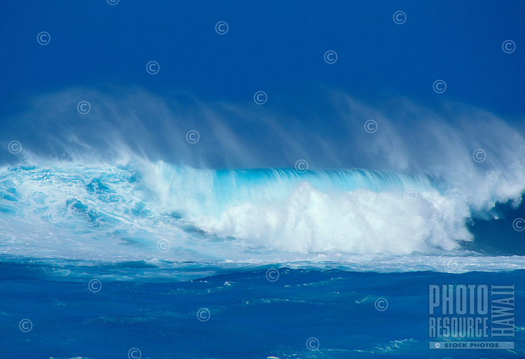 Jaws, a famous surf beach on Maui's North Shore. At times during the winter months of January and February the waves can reach heights of over 70 feet.