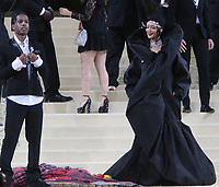 September 13, 2021.A$AP Rocky, Rihanna , attend The 2021 Met Gala Celebrating In America: A Lexicon Of Fashion at<br /> Metropolitan Museum of Art  in New York September 13, 2021 Credit:RW/MediaPunch