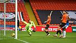 13.12.2020 Dundee Utd v Rangers: Benjamin Siegrist beaten by Connor Goldson's header for Rangers second goal
