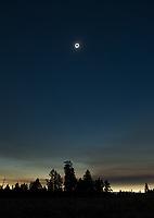 The 2017 solar eclipse, as seen over central Oregon.