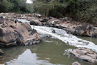 CAMPINAS, SP 24.08.2015 - RIO ATIBAIA- A captação de água no rio Atibaia atingiu índice crítico nesta segunda-feira (24) e vai passar por restrições. O baixo Atibaia chegou a 3,24 m³/s. Ele é responsável pelo abastecimento na região de Campinas. Com isso, a captação para abastecimento público e para matar a sede de animais é reduzida em 20% do volume diário. No caso das indústrias e irrigação, a redução chega a 30%. Todos os demais usos são paralisados. As reduções são válidas para Campinas, a partir desta terça-feira (25). (Foto: Denny Cesare/Codigo19)