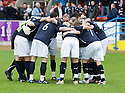 16/10/2010   Copyright  Pic : James Stewart.sct_jsp021_stirling_v_dundee  .:: DUNDEE PLAYERS HUDDLE BEFORE THE MATCH ::  .James Stewart Photography 19 Carronlea Drive, Falkirk. FK2 8DN      Vat Reg No. 607 6932 25.Telephone      : +44 (0)1324 570291 .Mobile              : +44 (0)7721 416997.E-mail  :  jim@jspa.co.uk.If you require further information then contact Jim Stewart on any of the numbers above.........