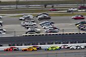 #19: Martin Truex Jr., Joe Gibbs Racing, Toyota Camry Bass Pro Shops/Tracker ATVs Toyota and #22: Joey Logano, Team Penske, Ford Mustang Shell Pennzoil