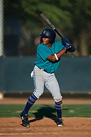 AZL Mariners Antoine Mistico (22) at bat during an Arizona League game against the AZL D-backs on July 3, 2019 at Salt River Fields at Talking Stick in Scottsdale, Arizona. The AZL D-backs defeated the AZL Mariners 3-1. (Zachary Lucy/Four Seam Images)