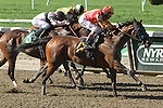 May 11, 2014:Fiftyshadesofhay with John Velazquez wins the Grade II Ruffian Stakes, for fillies & mares,  4-year olds & up, going 1 mile at Belmont Park. Trainer: Bob Baffert . Owner: Karl Watson, Michael Pegram and Paul Weitman . Sue Kawczynski/ESW/CSM