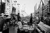 Los Angeles, California.USA.March 17, 2007..Popular singer Jackson Brown performs before thousands on Hollywood Boulevard who are  protesting the fourth anniversary of the war in Iraq.