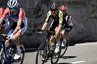 peloton riding through de 'Gorges de Saint-May' scenery<br /> <br /> Stage 5 from Gap to Privas 183km<br /> 107th Tour de France 2020 (2.UWT)<br /> (the 'postponed edition' held in september)<br /> ©kramon