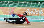 Doug Ripley, Rio 2016 - Goalball.<br /> Team Canada plays Brazil in the men's goalball // Équipe Canada affronte le Brésil au goalball masculin. 09/09/2016.