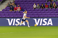 ORLANDO, FL - JANUARY 22: Sam Mewis #3 dribbles the ball during a game between Colombia and USWNT at Exploria stadium on January 22, 2021 in Orlando, Florida.