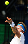 Denis Istoman (UZB) fell to Donald Young (USA)  63 36 63 at the Citi Open in Washington, DC on July 31, 2014.