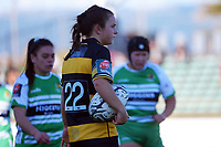 Taranaki halfback Kelsyn Cook waits to feed a scrum during the Farah Palmer Cup women's rugby match between Manawatu Cyclones and Taranaki Whio at CET Stadium in Palmerston North, New Zealand on Saturday, 24 July 2021 Photo: Dave Lintott / lintottphoto.co.nz
