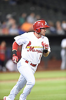 ***Temporary Unedited Reference File***Memphis Redbirds outfielder Charlie Tilson (16) during a game against the Omaha Storm Chasers on May 5, 2016 at AutoZone Park in Memphis, Tennessee.  Omaha defeated Memphis 5-3.  (Mike Janes/Four Seam Images)