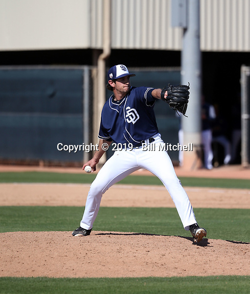 Robert Calvano - San Diego Padres 2019 spring training (Bill Mitchell)