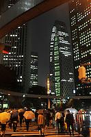 Shinjuku business district at the end of the day, Tokyo Japan..05 Jun 2009