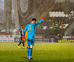02.03.2019: St Mirren v Livingston: Liam Kelly getting battered with rain