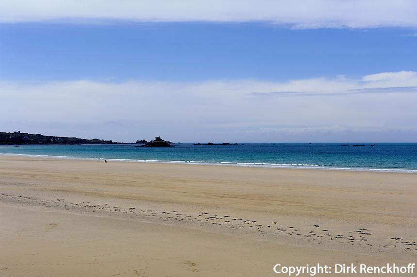Strand bei Surferkneipe Watersplash, St. Quen's Bay, Insel Jersey, Kanalinseln