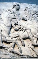 Greek Arts:  Parthenon--Horsemen, South Frieze.