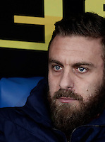 Calcio, Serie A: Roma, stadio Olimpico, 1marzo 2017.<br /> Roma's Daniele De Rossi waits for the start of the Italian TIM Cup 1st leg semifinal football match between Lazio and AS Roma at Rome's Olympic stadium, on March 1, 2017.<br /> UPDATE IMAGES PRESS/Isabella Bonotto