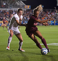 Kassey Kallman, Jazmine Reeves. Florida State defeated Virginia Tech, 3-2,  at the NCAA Women's College Cup semifinals at WakeMed Soccer Park in Cary, NC.