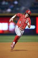 Josh McLain (15) of the North Carolina State Wolfpack hustles towards third base against the Charlotte 49ers at BB&T Ballpark on March 29, 2016 in Charlotte, North Carolina. The Wolfpack defeated the 49ers 7-1.  (Brian Westerholt/Four Seam Images)