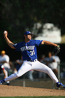 March 28 2009: Kolby Moore of the UC Riverside Highlanders during game against the CS Fullerton Titans at Riverside Sports Complex in Riverside,CA.  Photo by Larry Goren/Four Seam Images