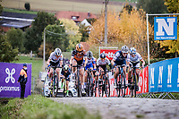 Group with Amy Pieters (NED/Boels-Dolmans), Elisa Longo Borghini (ITA/Trek-Segafredo), Lisa Brennauer (GER/Ceratizit-WNT Pro Cycling), Anna van der Breggen (NED/Boels-Dolmans), .. chasing race leader Chantal Van den Broek - Blaak (NED/Boels-Dolmans) on the Paterberg. <br /> <br /> 17th Ronde van Vlaanderen 2020<br /> Elite Womens Race (1.WWT)<br /> <br /> One Day Race from Oudenaarde to Oudenaarde 136km<br /> <br /> ©kramon