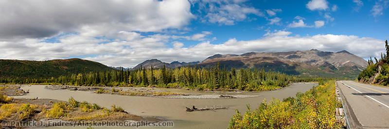 Nenana river in the Alaska Range mountains, Interior, Alaska.