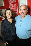 """Marion and Dennis Schepps at the opening reception: """"The Wartime Escape:  Margret and H.A. Rey's Journey from France"""" at the Holocaust Museum Houston Thursday Nov. 07,2013.  (Dave Rossman photo)"""