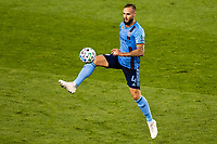 HARRISON, NJ - SEPTEMBER 23: HARRISON, NJ - Wednesday, September 23, 2020: Maxime Chanot during a game between New York City FC and Toronto FC on September 23, 2020 at Red Bull Arena in Harrison, New Jersey during a game between Toronto FC and New York City FC at Red Bull Arena on September 23, 2020 in Harrison, New Jersey.