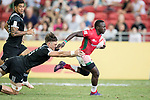 Brian Tanga of Kenya runs with the ball during the match New Zealand vs Kenya, Day 2 of the HSBC Singapore Rugby Sevens as part of the World Rugby HSBC World Rugby Sevens Series 2016-17 at the National Stadium on 16 April 2017 in Singapore. Photo by Victor Fraile / Power Sport Images