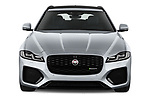 Car photography straight front view of a 2021 Jaguar XF-Sportbrake R-Dynamic-S 5 Door Wagon Front View