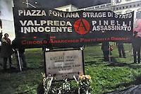 - Milano, manifestazione in ricordo della strage di piazza Fontana e della morte dell'anarchico Pinelli nel dicembre del 1969<br /> <br /> Milan, demonstration to commemorate the massacre of Fontana square and the death of the anarchist Pinelli in December 1969